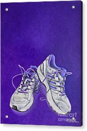 Acrylic Print featuring the painting Karen's Shoes by Pamela Clements