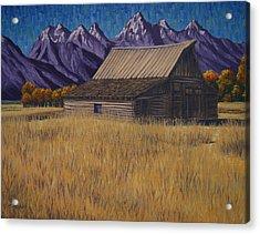 Karen's Teton Barn Acrylic Print