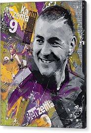 Karim Benzema - C Acrylic Print