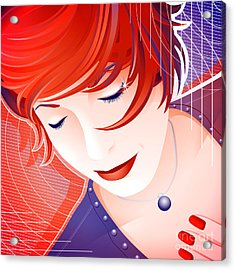 Karin Acrylic Print by Sandra Hoefer