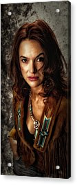 Acrylic Print featuring the photograph Karina - Indian Jacket ... by Chuck Caramella
