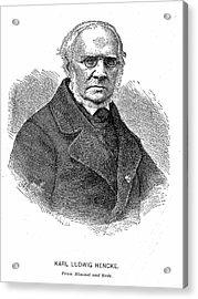 Karl Ludwig Hencke Acrylic Print by Universal History Archive/uig