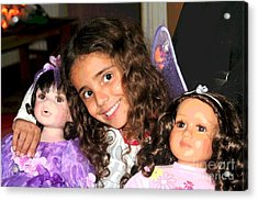 Karla's Dolls Acrylic Print by The Art of Alice Terrill