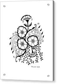 Karla's Flowers Acrylic Print
