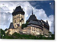 Acrylic Print featuring the photograph Karlstejn Castle In Prague 2 by Joe  Ng