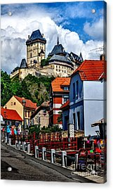 Karlstejn Castle In Prague  Acrylic Print by Joe  Ng