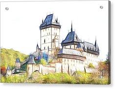 Karlstejn - Famous Gothic Castle Acrylic Print by Michal Boubin