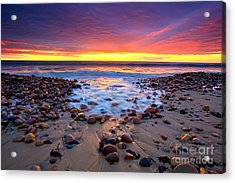 Karrara Sunset Acrylic Print by Bill  Robinson