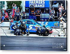 Kasey Kahne's Last Stop Before Victory Acrylic Print