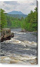 Katahdin And Penobscot River Acrylic Print by Glenn Gordon