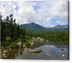 Katahdin At Sandy Stream Pond 1 Acrylic Print
