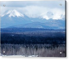 Acrylic Print featuring the photograph Katahdin Snow by Gene Cyr