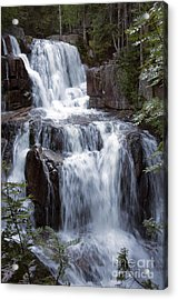 Katahdin Stream Falls Baxter State Park Maine Acrylic Print by Glenn Gordon