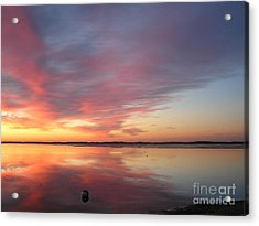 Katama Sunrise Acrylic Print by Jewels Blake Hamrick