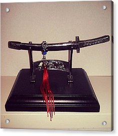 #katana #decorative #miniature #weapon Acrylic Print