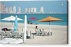 Katara Beach Acrylic Print by Bob Edwards