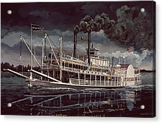 Spread Eagle Steamboat Night Acrylic Print