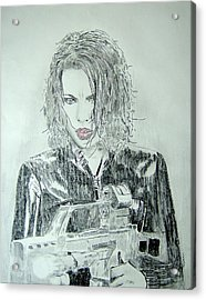 Kate Beckinsale Underworld Drawing Acrylic Print