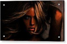 Kate Upton Acrylic Print by Jennifer Hotai
