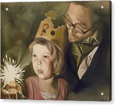 Kate's Sparkler Acrylic Print by Cherise Foster
