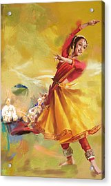 Kathak Dance Acrylic Print by Catf