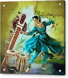 Kathak Dancer 4 Acrylic Print by Catf