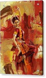 Kathak Dancer 6 Acrylic Print by Corporate Art Task Force