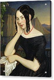 Katharina Kern Of Sterzing Acrylic Print by Rudolph Friedrich Wasmann