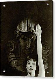 Katharine Hepburn Raising Her Hand Acrylic Print
