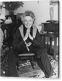 Katharine Hepburn Sitting In Her Apartment Acrylic Print