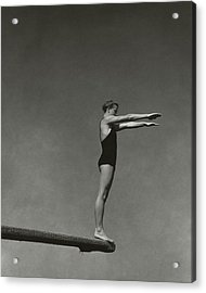 Katherine Rawls Getting Ready To Dive Acrylic Print by Edward Steichen