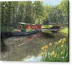Kathleen May Chesterfield Canal Nottinghamshire Acrylic Print by Richard Harpum