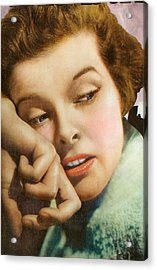 Kathryn Hepburn Acrylic Print by Studio Artist
