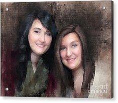 Katie And Sara Acrylic Print