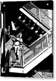 Katie-fire Escape Acrylic Print by Gary Gingrich Galleries