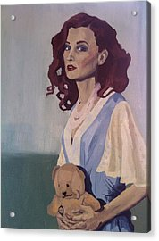Katie - Teddy Bear Acrylic Print