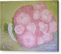Katie's Wedding Bouquet Acrylic Print by Paul Galante