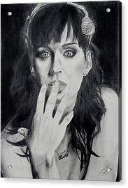 Katy Perry Acrylic Print by Raymond Perez