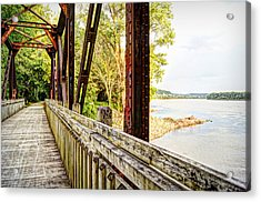Katy Trail Near Coopers Landing Acrylic Print by Cricket Hackmann