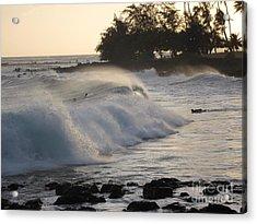 Kauai - Brenecke Beach Surf Acrylic Print