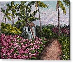 Kauai Flower Garden Acrylic Print