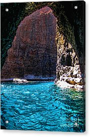 Kauai Sea Cave Acrylic Print by Baywest Imaging