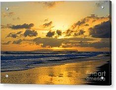 Kauai Sunset With Niihau On The Horizon Acrylic Print by Catherine Sherman