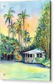 Kauai West Side Cottage Acrylic Print by Marionette Taboniar