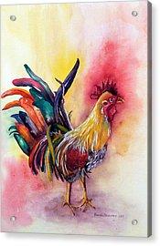 Kauai's Rooster Acrylic Print