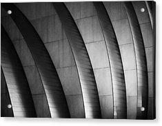 Kauffman Performing Arts Center Black And White Acrylic Print