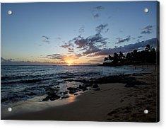 Kawaii Sunset Acrylic Print by Max Ratchkauskas