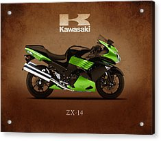 Kawasaki Zx-14 Acrylic Print by Mark Rogan