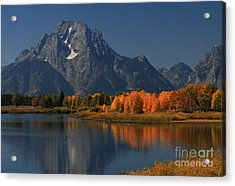 Kayak At Oxbow Bend Acrylic Print by Clare VanderVeen
