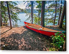 Kayak By The Water Acrylic Print by Alex Grichenko